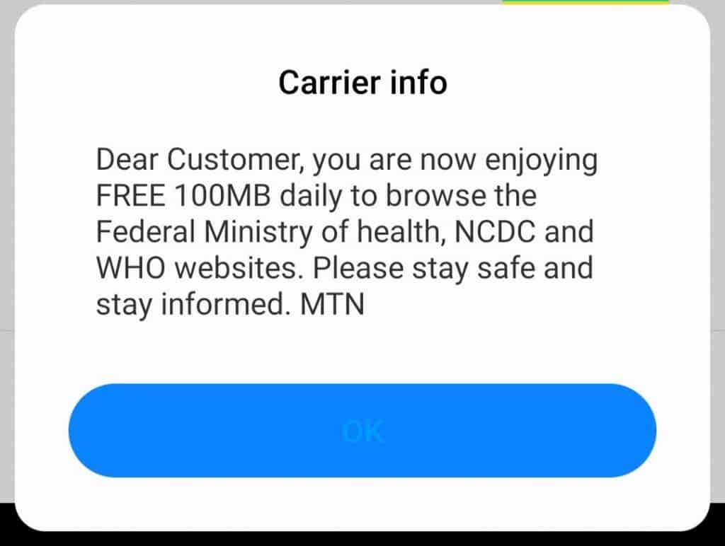 Mtn 100mb daily free browsing cheat