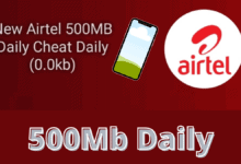 Airtel 500MB 0.0k daily free browsing cheat April / May 2021
