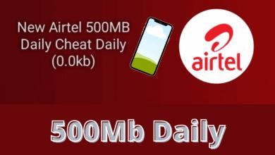 Airtel 500MB 0.0k daily free browsing cheat April / May 2021