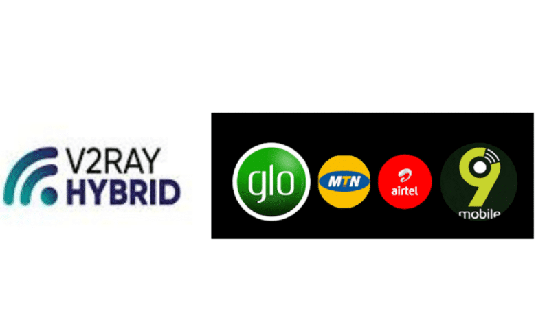 V2RAY hybrid settings for Mtn, Glo, Airtel, 9mobile Unlimited Cheat